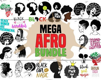 Black History Month Bundle Svg Afro Bundle Svg Afro Svg File For Cutting Machine Silhouette Cameo Cricut Commercial Use Digital Designs Customer Satisfaction Is Our Priority