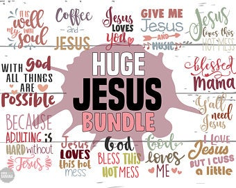Jesus Svg Bundle Blessed Svg Christian Svg Religious Svg File For Cutting Machine Silhouette Cameo Cricut Commercial Use Digital Designs Customer Satisfaction Is Our Priority