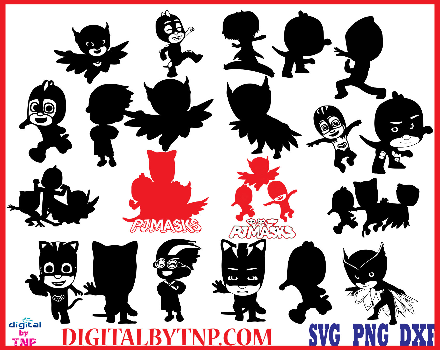 Pj Masks Clipart Pj Masks Svg Png Eps Pj Masks Silhouette Pj Masks Characters Gekko Catboy Owlette Lunetta Night Ninja Romeo Copy Customer Satisfaction Is Our Priority